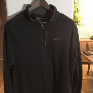 Greg Norman quarter zip sweater.  Black XL